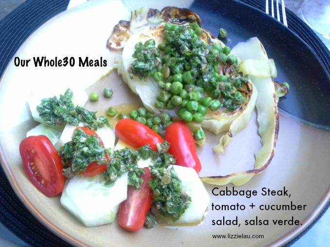 whole30 cabbage steak
